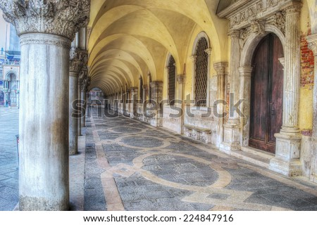 arcade in San Marco square, Venice - stock photo