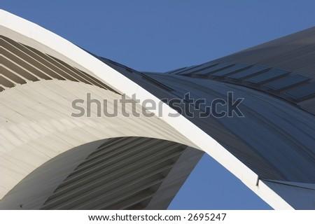 Arch.  Detail of modern european architecture. - stock photo