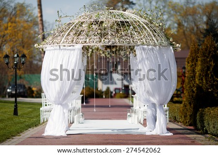 Arch for wedding ceremony - stock photo