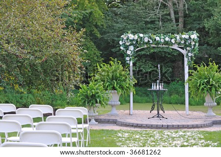 arch gate for the wedding ceremony - stock photo