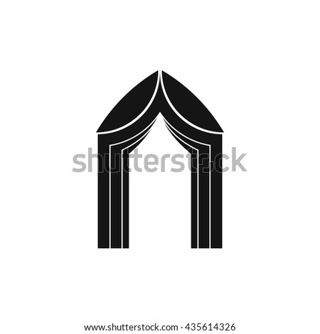 Arch icon, simple style - stock photo