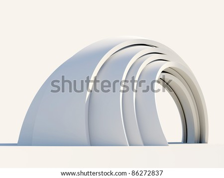 Arch isolated on light background