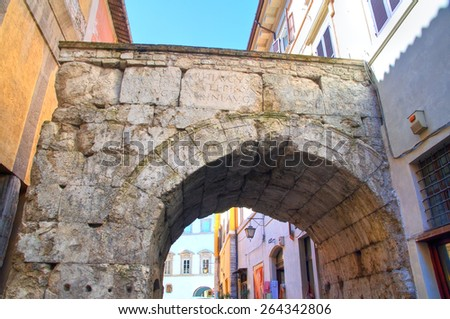 Arch of Drusus. Spoleto. Umbria. Italy. - stock photo