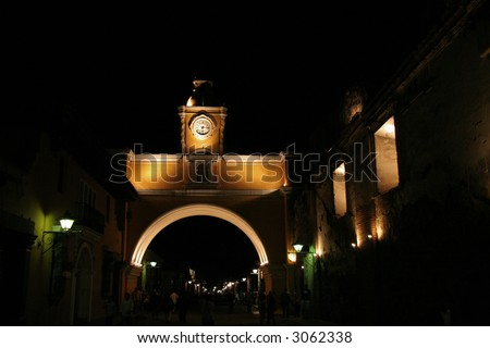 Arch of santa catalina antigua guatemala - stock photo