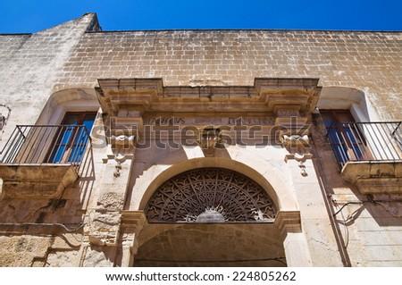 Arch of the Knight. Fasano. Puglia. Italy. - stock photo