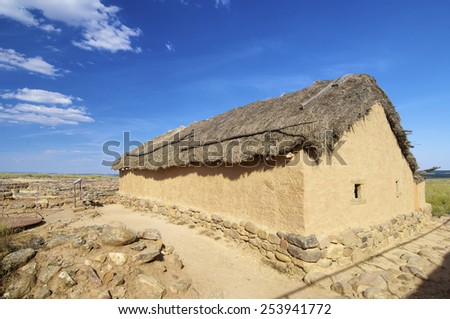 Archaeological remains of the ruins of Numancia, Soria, Castilla Leon, Spain - stock photo