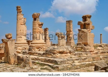 Archaeological site in Africa, the Agora of Cyrene in Libya