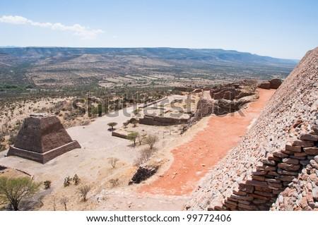 Archaeological site of La Quemada, Zacatecas (Mexico) - stock photo