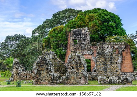 Archaeological Site of Panama Viejo and Historic District of Panama. UNESCO World Heritage - stock photo