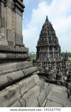 Archaeological site of Prambanan on Java island, Indonesia