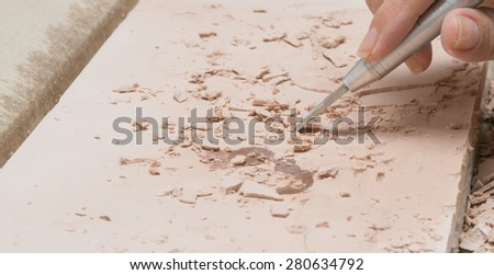 Archaeological tools - stock photo