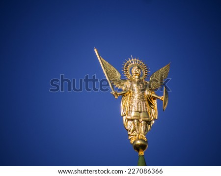 Archangel Michael in St. Sophia monastery, Kiev, Ukraine - stock photo