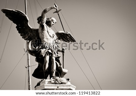 Archangel Michael, Rome, Italy - stock photo