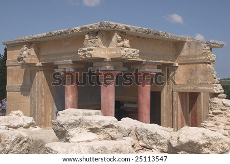 archeological area at Knossos - Crete - stock photo