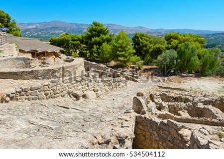 Archeological site of Phaistos. Crete, Greece