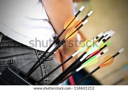 archery arrows - stock photo