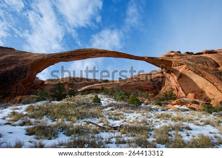 Arches at dawn Utah - stock photo