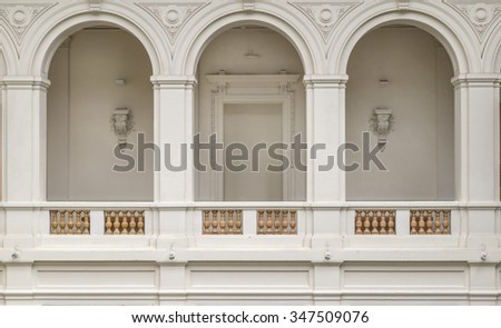 arches interior design, museum, official building, arches interior design