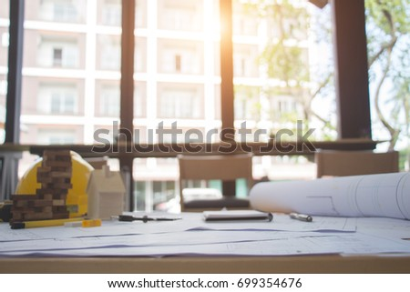 Construction management stock images royalty free images architect desk businessengineering conceptconstruction site working with blueprints in the malvernweather Gallery