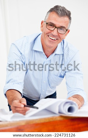 Architect in Office - stock photo