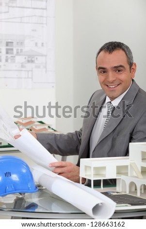 Architect's office - stock photo