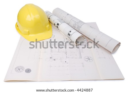 Architect's plan with building plan of my own house.