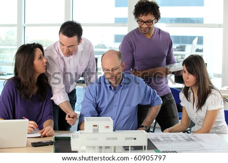Architects - stock photo