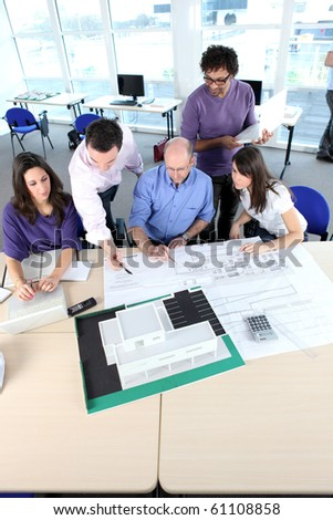 Architects meeting - stock photo
