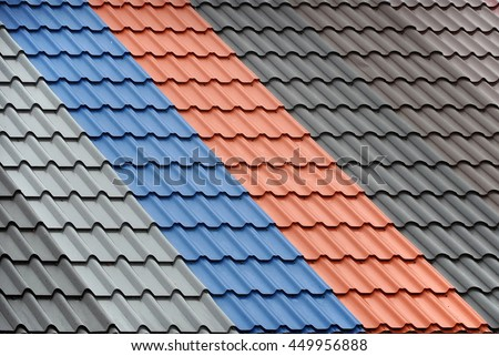 Architectural background texture metal roof tiles stock for Best roof color