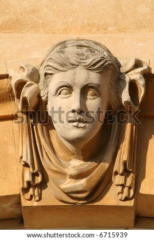 Architectural Detail, Carved Face.