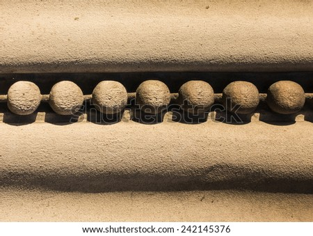 Architectural detail from a stone building situated in Southampton, Hampshire, UK. - stock photo
