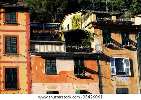 Architectural detail in Portofino, Italy, Europe - stock photo