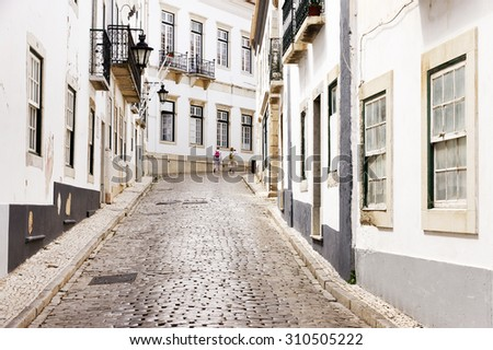 Architectural detail in the old town of Faro - Capital of Algarve - Portugal, Europe - stock photo