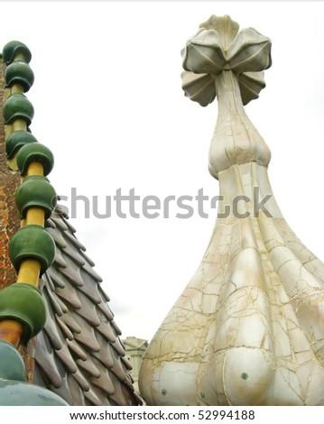 Architectural detail of Casa Batllo - stock photo