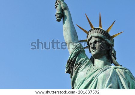 Architectural detail of the famous Statue of Liberty