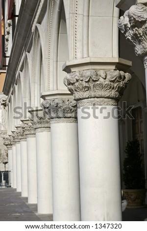 Architectural details - Las vegas - stock photo