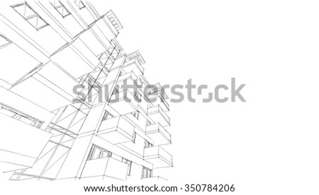 architectural drawings - stock photo