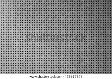 Architectural perforated metal cladding background