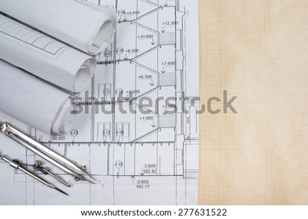 Design drawing papercraft house stock photo 208075315 for Blueprint estimator