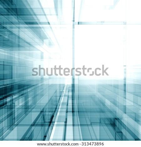 Architecture abstract. Architecture design and model my own - stock photo
