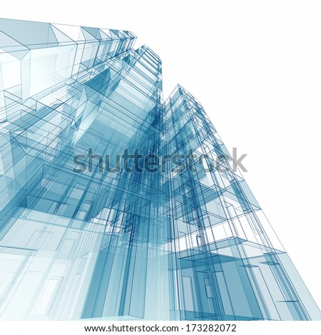 Architecture. Architecture design and 3d model my own - stock photo