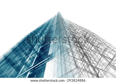 Architecture. Architecture design and model my own - stock photo