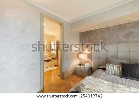 beautiful apartment bedrooms. Architecture  beautiful apartment furnished comfortable bedroom Bedroom Door Stock Images Royalty Free Vectors