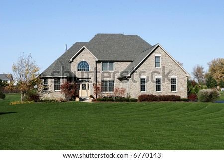 architecture brick city construction country development estate exterior grass home house landscape realtor residential