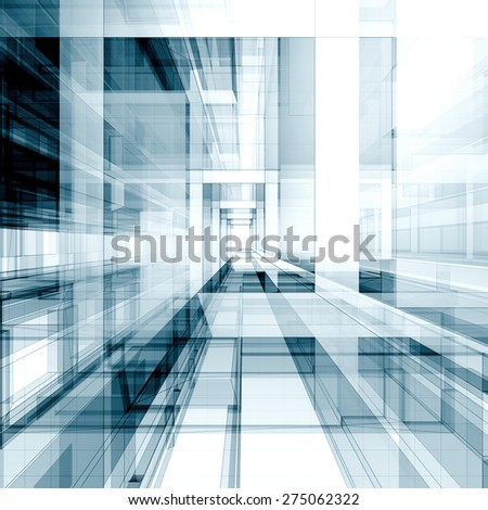 Architecture concept. Architecture design and model my own - stock photo
