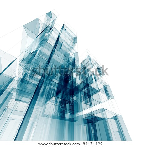 Architecture. Conceptual architecture project - stock photo