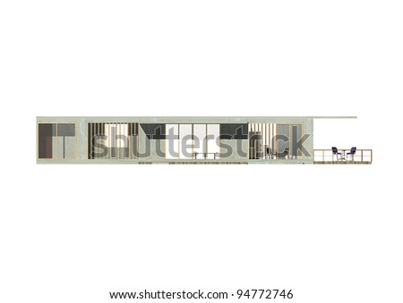 Architecture 3d Elevation.a presentation show elevation of housing. - stock photo
