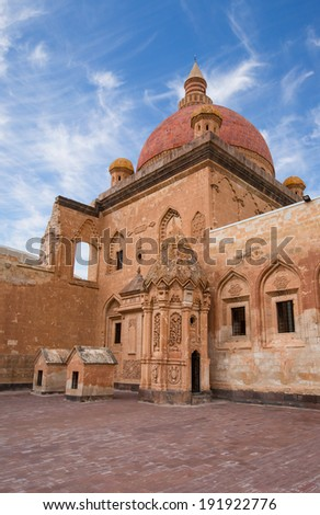 Architecture detail at Ishak Pasha palace in Dogubeyazit