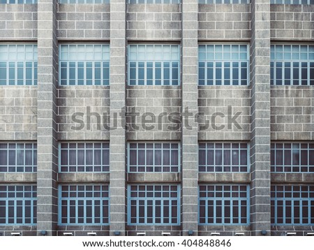Architecture detail Exterior Facade Void pattern Background - stock photo