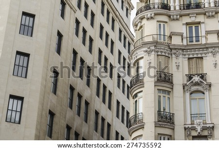 Architecture detail in Madrid, Spain